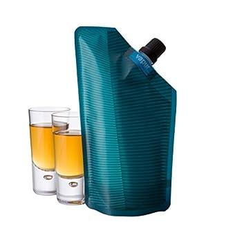 Vapur After Hours Portable Flask - with pour spout 10 ounces - Teal  40024