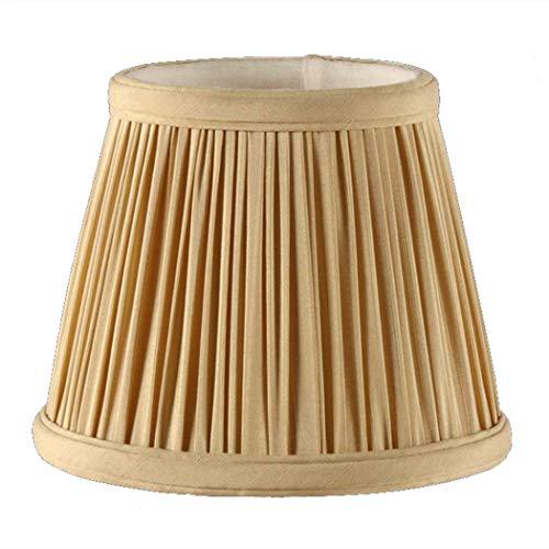 Pantalla de Tela de Tela de Lino Moderna E14 Redonda Pantalla de lámpara de Mano 100% Pura Lámpara de Noche Lámpara de Pared Lámpara de Mesa de Piso Luz cónica de Luces en el hogar