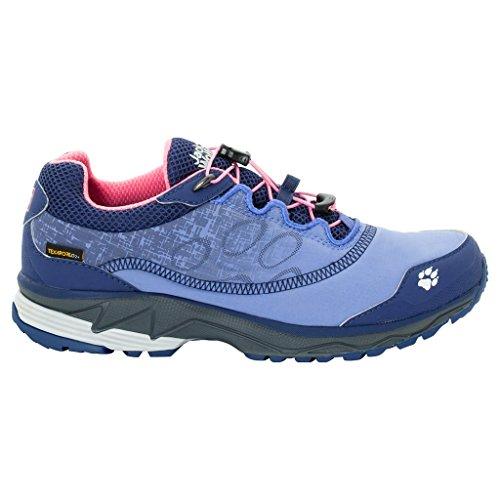 Jack Wolfskin W Zenon Track Texapore Low Blau-Lila, Damen Laufschuh, Größe EU 38 - Farbe Rosebud