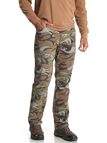 Wrangler Green Camo Outdoor Performance Comfort Flex Cargo Pants - 34 X 30