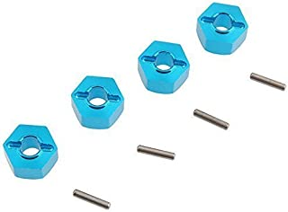 Hobbypark Aluminum Wheel Hex Hubs 12mm Drive Adapter with Pins 2x10 mm for RC Car Upgrade Replacement Parts (Pack of 4)