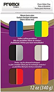 Polyform Premo Sculpey Multipack, 1-Ounce, Classic, 12-Pack