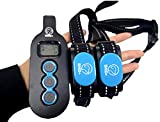BND+ Dog Training Collar 2 Dog Rechargeable Shock Collar with Remote 3 Modes Shock Beep Vibration...