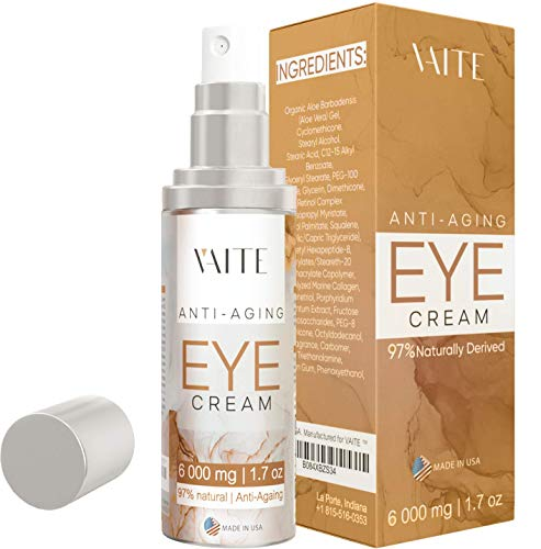 41mtp7naTDL - Eye Cream Treatment for Anti-Aging, Bags, Puffiness, Circles, Wrinkles, Dark Circles Under Eyes - Best Organic Natural Eye Gel For Men and Women with Hydrating Serum and Vitamin C