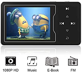 RUIZU D08 MP3/MP4 Video Player, High Resolution Screen, 1080p Full HD Video, FM Radio, Built-in Speaker, Touch Button, Up ...