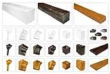 Deco Wood Viga moderna de poliuretano – Réplica fiel de la estructura de madera – estable y muy ligero – (ED104 blanco 170 x 190) decoración tubo cubierta industrial de tubo