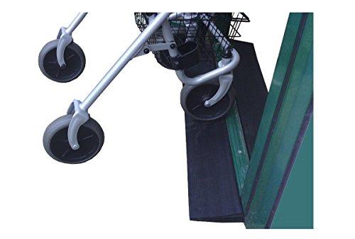 Faba Care Schwellenrampe Gummi mit Bitumen Klebefläche, Rollstuhlrampe, Türschwellenrampe, schwarz, 16 mm x 150 mm x 1000 mm, Schwellenhöhe 1,6 cm