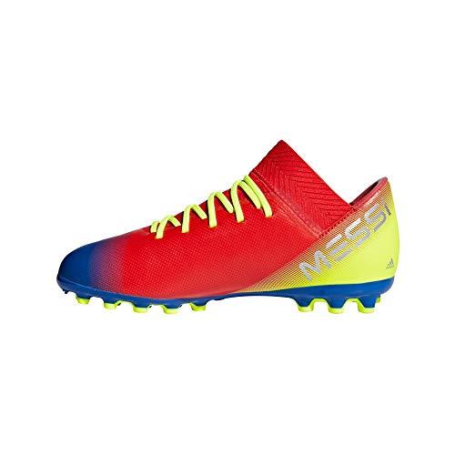 Adidas Nemeziz Messi 18.3 AG J - Botas de Fútbol Unisex Niños, Multicolor (Rojact/Plamet/Fooblu) 36 2/3 EU