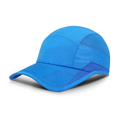 ZEARE schnell trocknend wasserdicht atmungsaktiv Hut Polyester Baumwolle Sonnenhut leichte Baseballmütze Sport Cap Unisex (Blau 0703)
