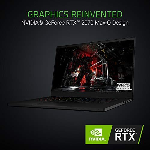 "Razer Blade 15 Gaming Laptop: Intel Core i7-8750H 6 Core, NVIDIA GeForce RTX 2070 Max-Q | 15.6"" FHD 144Hz | 16GB RAM | 512GB SSD, CNC Aluminum, Chroma RGB Lighting, Thunderbolt 3"