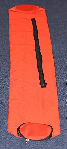 Agility Sport pour Chiens - Lot de 12 piquets de Slalom, Rouge - 90 cm x Ø 25 mm avec des Ressorts Flexibles en métal - Contient également Un Sac Pratique