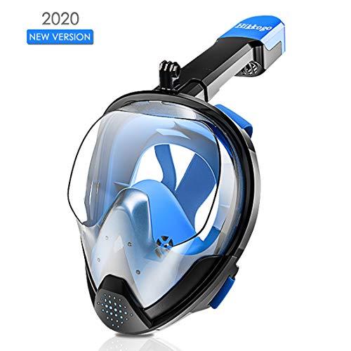 Mascara buceo, Sistema de respiración de seguridad antiniebla y antifugas con soporte de cámara desmontable