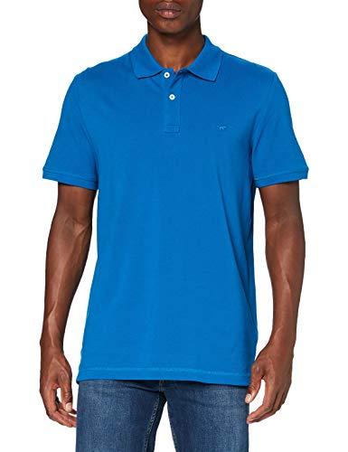 MUSTANG Herren Paplo PC Basic Poloshirt, Blau (Blau 5320), Small (Herstellergröße: S)