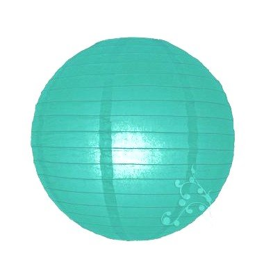 HL Lot de 4 lampions Vert Turquoise Clair (40 cm - 30 cm - 20 cm -10 cm)