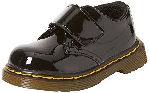 Dr. Martens - Unisex-Child Kamron T Strap Shoe, Size: 5 M US Big Kid / 4 F(M) UK Youth, Color: Black Patent Lamper