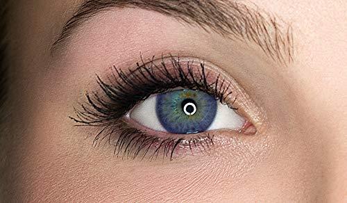 Kontaktlinsen farbig ohne Stärke farbige Jahreslinsen weiche Linsen soft Hydrogel 2 Stück Farblinsen + Linsenbehälter 0.0 Dioptrien natürliche Farben Serie Gleam Violet (violett)