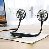 WeCan Ventilador Personal portátil con diseño de Collar Mini Ventilador USB...