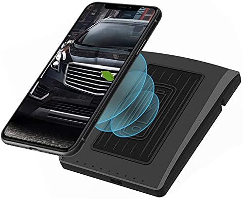 Cargador de automóvil inalámbrico para Cadillac XT5 XT6 2019 2020 10W Accesorio de la consola del centro de cargador rápido para iPhone Samsung