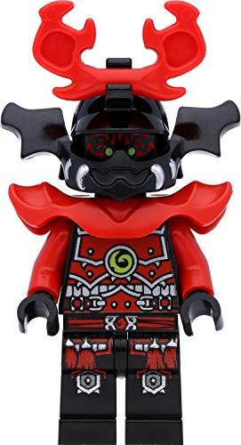 LEGO Ninjago - Figura de guerrero de piedra samurai (Stone Army Warrior) con cara roja