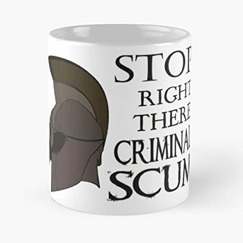 Oblivion Police Knight Scrolls Elder Guard Sword Iv The Best Taza de café de cerámica blanca de 11 onzas