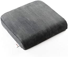 Cheer Collection Extra Large Seat Cushion | Memory Foam Comfort Pad for Prolonged Sitting with Removable Washable Cover