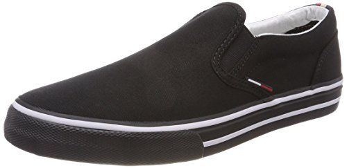 Tommy Hilfiger Herren Tommy Jeans Textile Slip ON Sneaker, Schwarz (Black 990), 41 EU