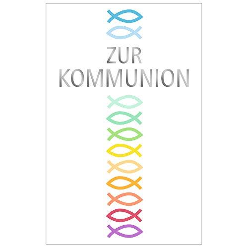 Susy Card 40024929 Grußkarte Kommunion, Kreuz, 1 Stück