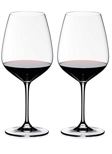 Riedel Heart to Heart Cabernet Sauvignon Glasses, Set of 2, Clear, 28-1/4-Oz - 6409/0
