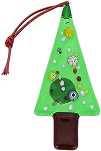 GlassOfVenice Adorno de árbol de Navidad de cristal de Murano