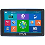 CARRVAS GPS Navigation for Car, The Latest map, Touch high-Definition Highlight Screen 7 inches 8G 256M Navigation System, Multi-Language Voice map Broadcasting, Free map Updates for Life