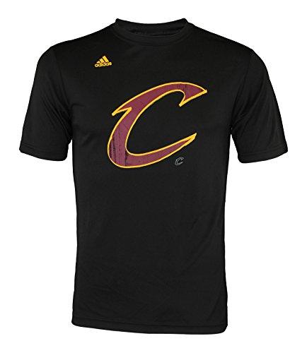 adidas, maglietta Ultra Athletic Rush, in poliestere con stampa delle squadre della NBA, da uomo, Uomo, Cleveland Cavaliers - Black, Large