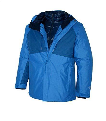 Columbia Men's Superpipe Slope 3 in 1 Interchange Winter Omni Heat 650 Down Ski Jacket (XXL, Super Blue)