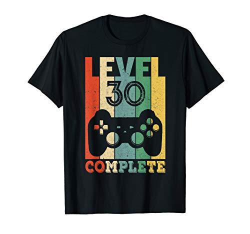 30. Geburtstag Mann Frau Level 30 Jahre 1990 Party Geschenk T-Shirt