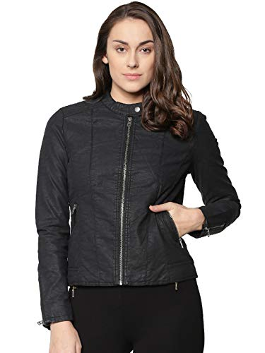 Only Onlsaga Faux Leather Jacket CC Otw, Chaqueta para Mujer, Rosa (Misty Rose Misty Rose), 42 (Talla del Fabricante: 40)