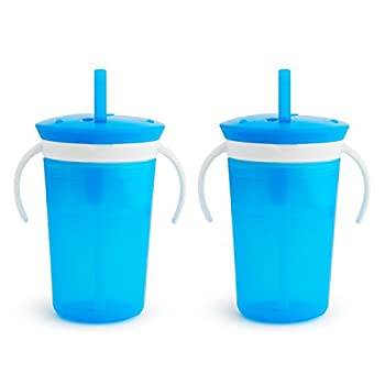 Munchkin SnackCatch & Sip 2-in-1 Snack Catcher and 2 Piece Spill-Proof Cup Blue