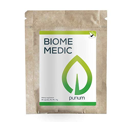 Purium Biome Medic - 60 Vegan Capsules - Gut Health Support Supplement, Removes GMO Toxins, Supports Good Bacteria, Repairs Microbiome - Vegetarian, Gluten Free - 60 Servings