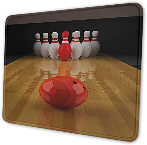 Bowling Party Gaming Anti-Rutsch-Gaming-Mauspad mit genähter Kante Computer PC Mousepad Gummibasis für Office Home