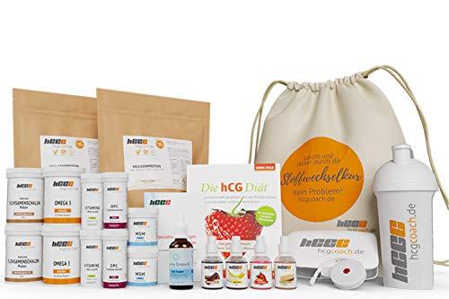 hCGC® Das Original Stoffwechselkur Komplettpaket | 42 Tage hCG Diät +18 Tage geschenkt | Weidemilchprotein | Mit Hormony Complex Tropfen| + Buch | 4er Aromatropfen | Gratis Zugaben