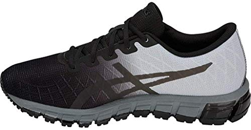 ASICS Men's Gel-Quantum 180 4 Running Shoes, 11.5M, Black/Dark Grey