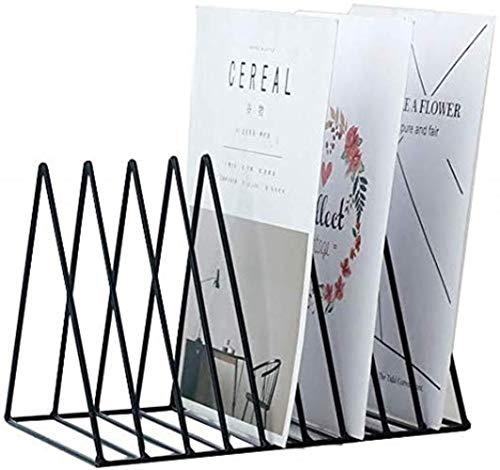 Archivadores verticales Archivadores Revista de escritorio de oficina estante al archivo Art Box Hierro Divisor de almacenamiento Artículos de escritorio Almacenamiento Negro Manager Inicio Mobiliario