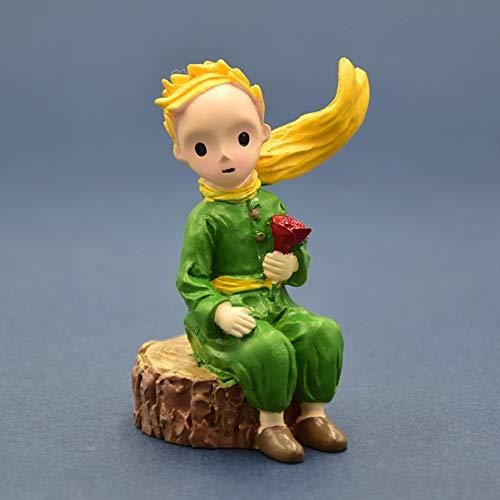 Beeldje Cadeaus voor Home Decoration Ornamenten Little Prince Resin figuur Statue Rosa Kinderen Kid Christmas Gift miniatuur bonsai Moss Terrarium Decor