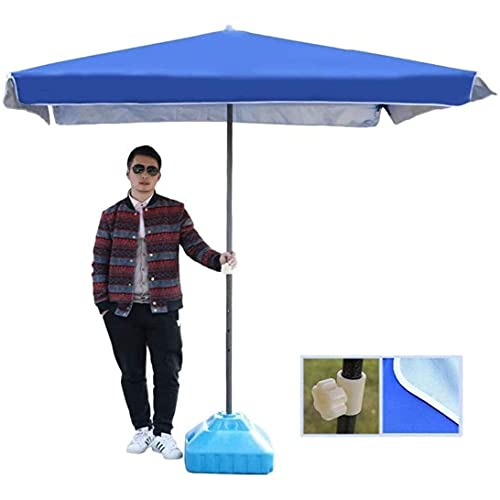Sombrilla de patio al aire libre 6.5 'Sombrilla de mercado de patio al aire libre cuadrado para balcón, terraza, jardín o sombra de terraza, 2M veces; 2M (Color: Rojo vino, Tamaño: 6.5 Ft / 200cm) (