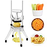 Happybuy Commercial Vegetable Fruit Chopper 1/4″ Blade Heavy Duty Professional Food Dicer Kattex French Fry Cutter Onion Slicer Stainless Steel for Tomato Peppers Potato Mushroom