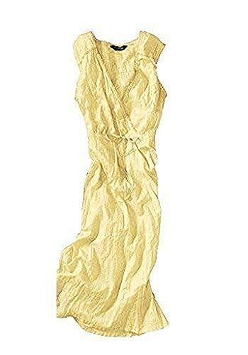 Eddie Bauer Kleid Crinklekleid Gelb Gr. 12