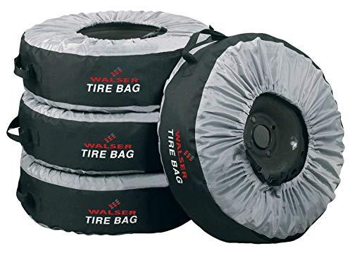 Walser 13711 Universal Reifentasche/Hochwertige Reifenaufbewahrung/Premium Reifenschutzhülle/Reifenbezug in Top Qualität 4tlg