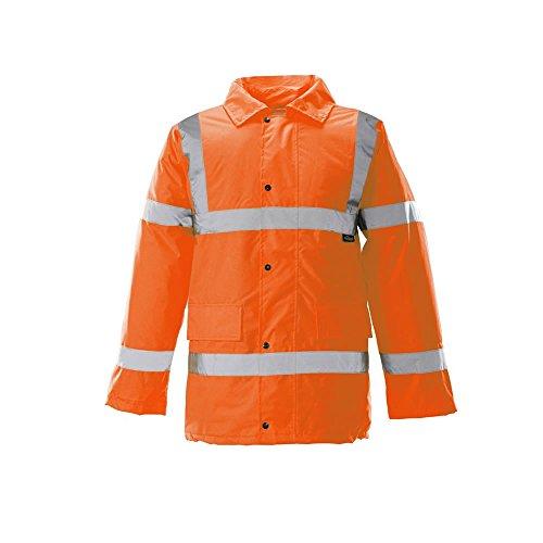 Hi Viz étanche tempête Veste Parka rembourrée Manteau Chaud pour Homme Tenue de Travail Sécurité - - Medium
