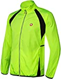 qualidyne Men s Hooded Cycling Running Jacket with Detachable Windproof Sleeves, Lightweight Waterproof Running Sports Vest