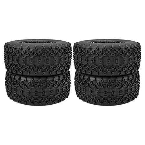 Yixikejiyouxian Durable RC Wheel 1:10 Juego de neumáticos de camión de Recorrido Corto 12 mm Hub Hexagonal para Traxxas Slash HPI VKAR Redcat HSP - Negro 10041