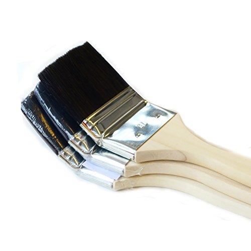 ROTIX-98043 3 X Heizkörperpinsel Ecken-Pinsel 70 mm 3 Zoll schwarze Mischborste