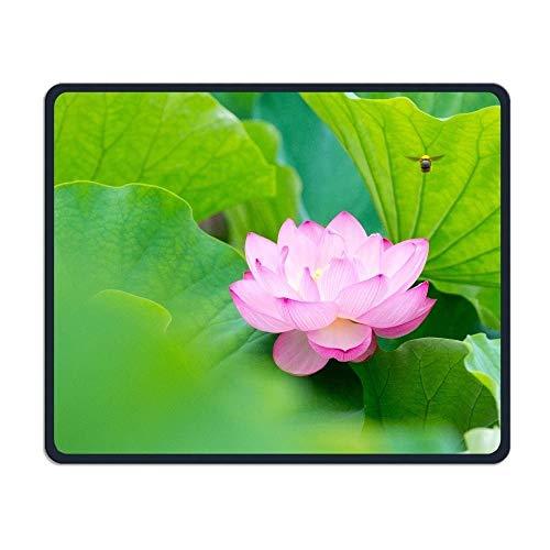 Alfombrilla de ratón Pink Lotus Flower Oficina Rectángulo antideslizante Alfombrilla de goma Divertido juego Alfombrilla de ratón para computadoras portátiles Monitores de computadora Tabletas Teclados